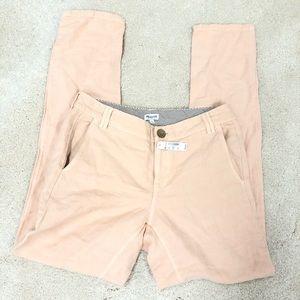 Madewell Rivington linen blend blush pink pants